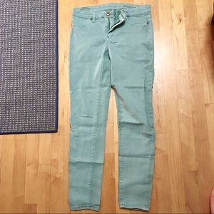 Blank NYC Mint Green-Blue Skinny Jeans